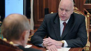 Глава СКР Александр Бастрыкин на встрече с Владимиром Путиным