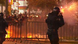 Violentos disturbios en Bogotá