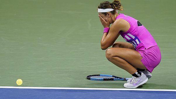 Виктория Азаренко, эмоции после выигранного матчпойнта.