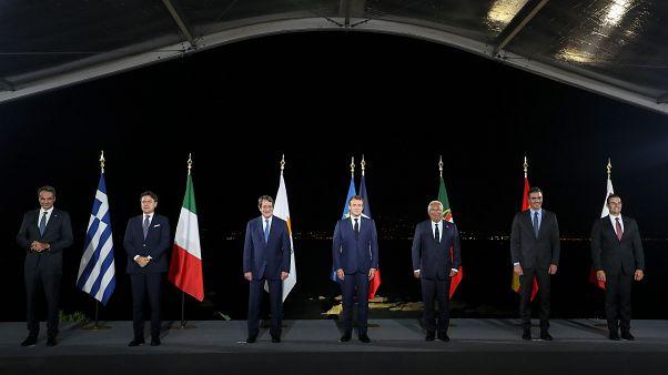 Med7 zirvesine katılan liderler
