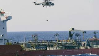 The European Union maritime force enforcing the U.N. arms embargo on Libya
