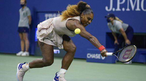 Serena Williams während des Spiels gegen Asarenka.