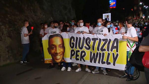 Milhares de pessoas pediram justiça por Willy Monteiro Duarte
