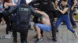 Rendőri erőszak Minszkben