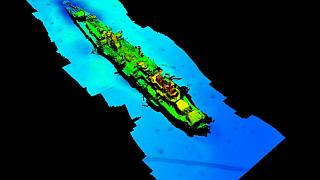 A multi-beam echosounder has made a sonar scan of the wreck