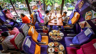 مطعم طائرة لكنه على الأرض في بانكوك
