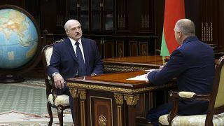 الکساندر لوکاشنکو در دیدار با ایوان ناسکویچ، رئیس کمیته تحقیق