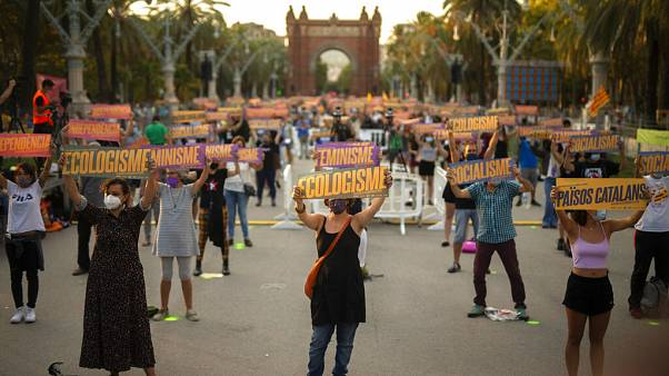 Митинги сепаратистов в Каталонии