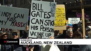 Covid-19: Yeni Zelanda'da 'maskesiz' karantina protestosu