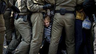 На акции протеста в Минске