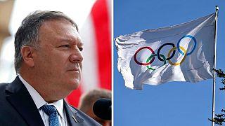 پرچم کمیته بینالمللی المپیک، وزیر خارجه آمریکا