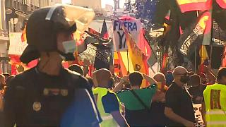 """Miles de manifestantes piden la dimisión de Pedro Sánchez por su """"nefasta"""" gestión de la pandemia"""