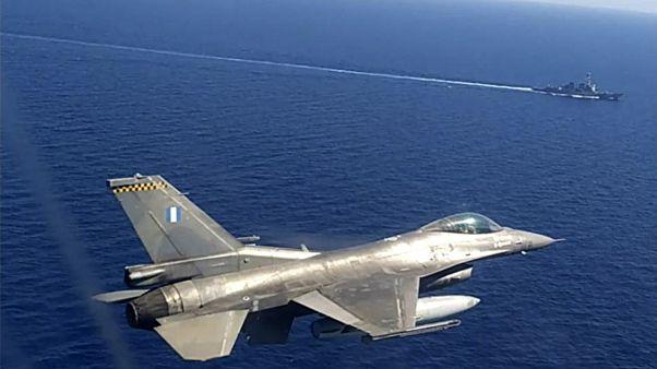 Griechische Militärübung im Mittelmeer Anfang September 2020