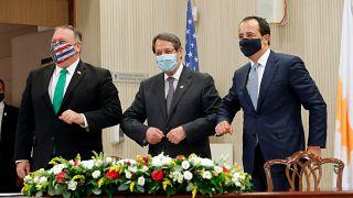 ABD Dışişleri Bakanı Mike Pompeo  Kıbrıs Cumhuriyetini ziyaret etti