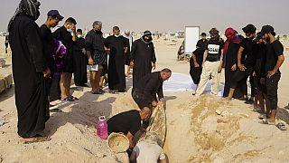 Irak Covid-19 mezarlık
