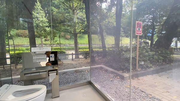 مراحيض شفافة بالحدائق العامة في طوكيو
