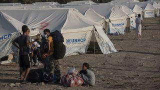 Άποψη από τον νέο καταυλισμό αιτούντων άσυλο στη Λέσβο