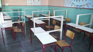 Une classe de maternelle en Grèce - Capture d'écran - vidéo euronews