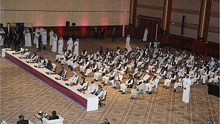 هیأت طالبان در جلسه افتتاحیه مذاکرات صلح میان گروه های افغانی