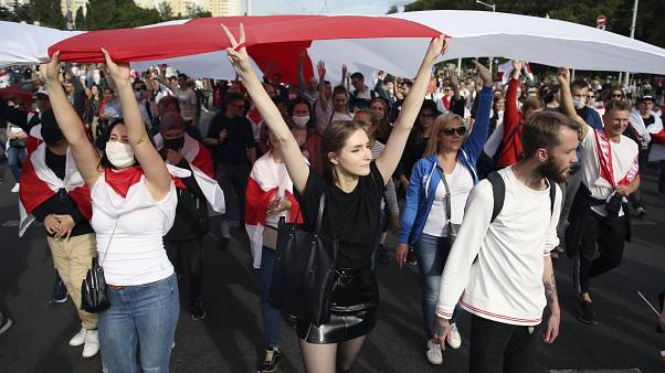 Protestos e detenções na Bielorrússia