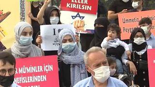 demonstration in Istambul