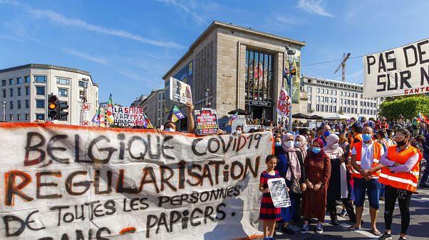 Συγκέντρωση υγειονομικών υπαλλήλων στις Βρυξέλλες