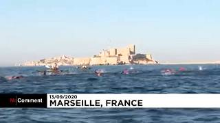 The swimming race, Marseille, Sept 13.