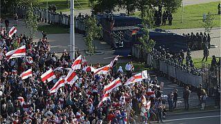 تظاهرات ده ها هزار نفر در مینسک، پایتخت بلاروس