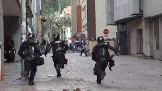 Disturbios en las calles de Bogotá