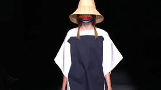 Madrid Fashion Week: Masks take centre stage on and off the catwalk