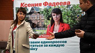 المرشحة المعارضة كسينيا فاديفا