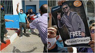 الصحفي خالد درارني المعتقل منذ 29 آذار/مارس والمعارض السياسي كريم طابو