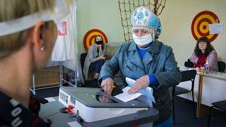 Избирательный участок в Ленинградской области.