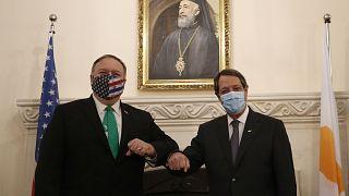 ABD Dışişleri Bakanı Mike Pompeo, Kıbrıs ziyareti kapsamında Pompeo, Rum Lider Nikos Anastasiadis ile görüştü
