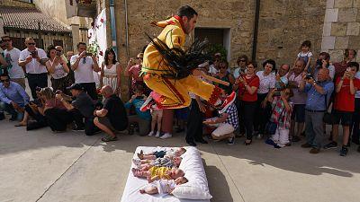 'El Salto del Colacho' (The Devil's Jump) baby jumping festival, in Castrillo de Murcia