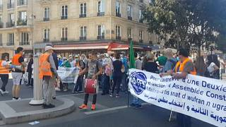 Algeria: Hundreds of pro-Hirak activists protest in Paris