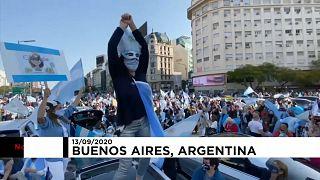 Movilizaciones contra el Gobierno de Alberto Fernández