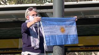 Demonstrantin in Buenos Aires