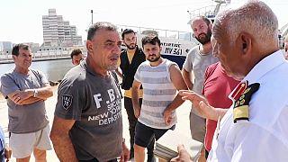 I pescatori italiani a Bengasi il primo settembre, giorno in cui sono stati fermati dalle forze di Haftar