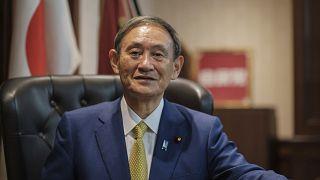 يوشيهدي سوغا المنتخب حديثا على رأس الحزب الليبرالي الديموقراطي في طوكيو. 2020/09/14