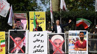 من تظاهرة معارضة للسلطة الإيرانية والإعدام في بريطانيا