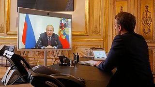 روسای جمهوری روسیه و فرانسه