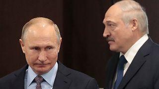 Rusya Devlet Başkanı Putin ile Belarus Devlet Başkanı Lukaşenko