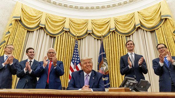 ترامب في البيت الأبيض في واشنطن. 2020/08/12