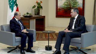 من لقاء جمع الرئيس ميشال عون ورئيس الوزراء المكلف مصطفى أديب