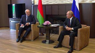ولادیمیر پوتین در دیدار با الکساندر لوکاشنکو
