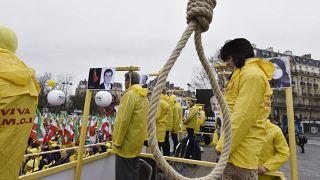 İran'a karşı idam cezası protestosu (2016)