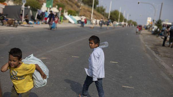 Мигранты на Лесбосе