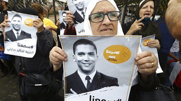 Rassemblement en soutien à Khaled Drareni, devant le palais de justice, le mardi 8 septembre 2020 à Alger, Algérie