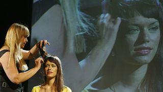 خلال عرض مسرحي في سويسرا (أرشيف)